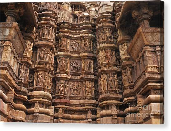 Khajuraho Temples 2 Canvas Print