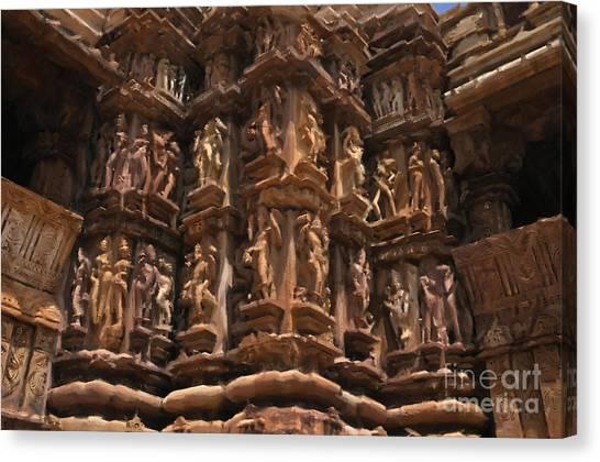 Khajuraho Temples 3 Canvas Print
