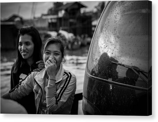 Khmer Laughter Canvas Print