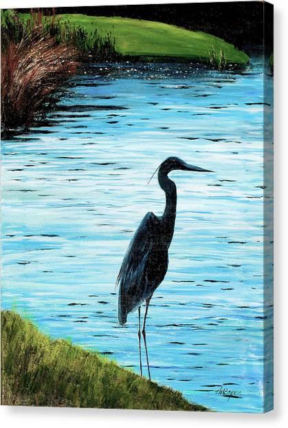 Kiawah Heron Canvas Print
