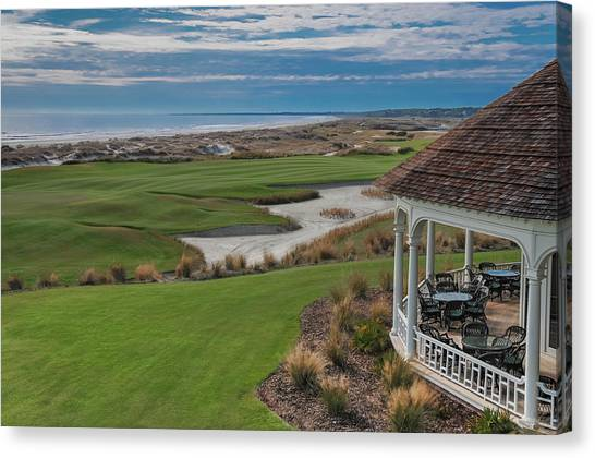 Golf Course Canvas Print - Kiawah Island Ocean Golf Course by Connie Mitchell