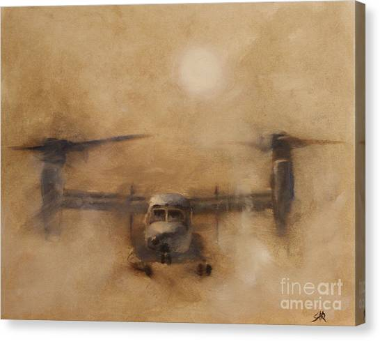 Osprey Canvas Print - Kicking Sand by Stephen Roberson