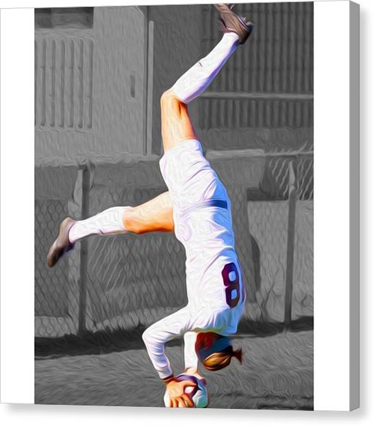 Soccer Leagues Canvas Print - #kickstand #yoga Yogi #chelsi @sldpease by David Haskett II