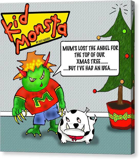 Kid Monsta Xmas 1 Canvas Print