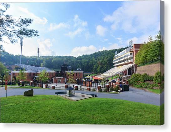 Appalachian State University Asu Canvas Print - Kidd Brewer Stadium At Appalachian State by Bryan Pollard