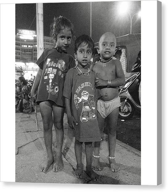 Innocent Canvas Print - #kids #children #innocent #india #hindi by Kentaro Sosho