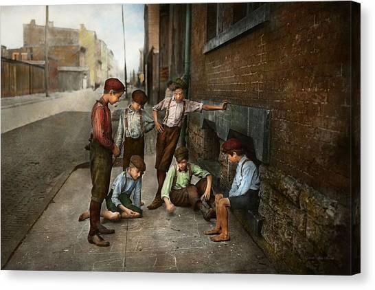 Clockwork Orange Canvas Print - Kids - Cincinnati Oh - A Shady Game 1908 by Mike Savad