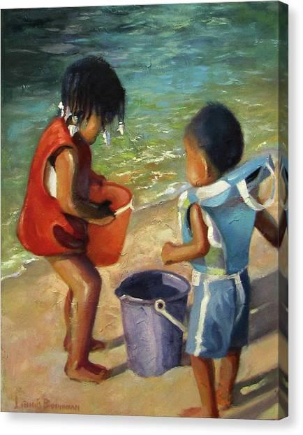 Kids Play Canvas Print
