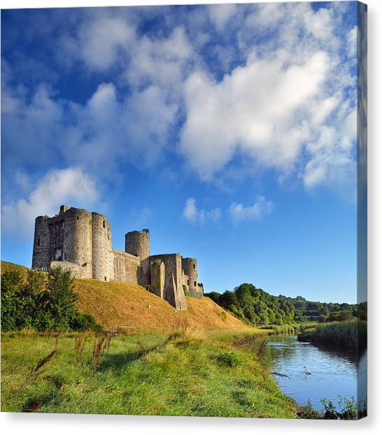 Kidwelly Castle 1 Canvas Print