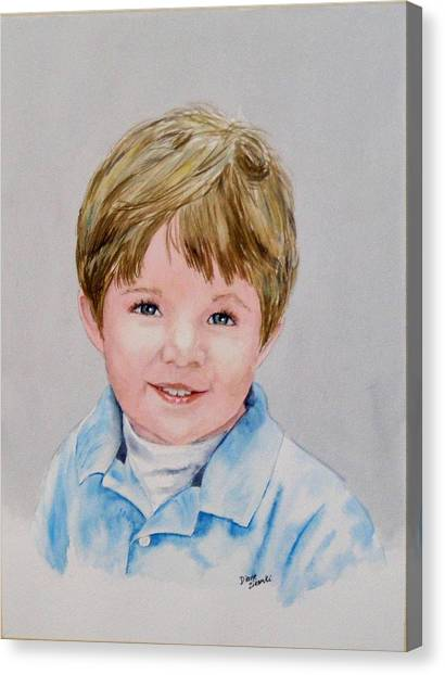 Kieran - Commissioned Portrait Canvas Print