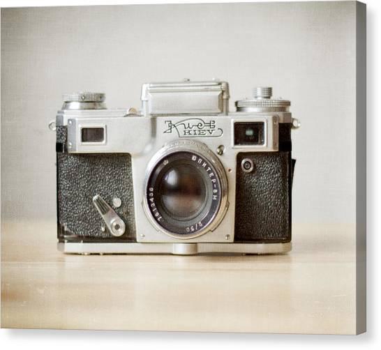 Vintage Camera Canvas Print - Kiev by Violet Gray