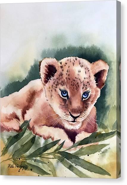Kijani The Lion Cub Canvas Print