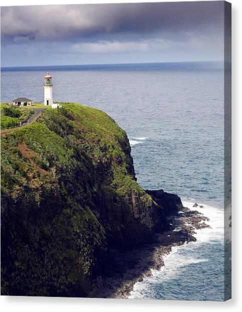 Hawaii Canvas Print - Kilauea Lighthouse On Kauai Hawaii by Brendan Reals