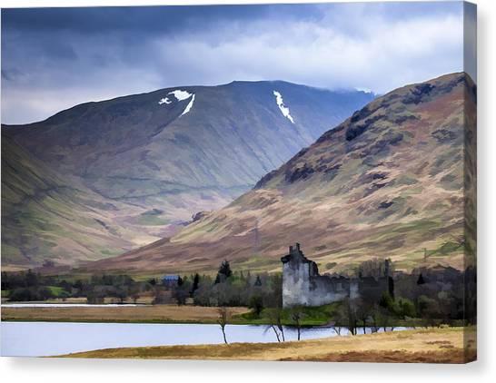 Kilchurn Castle On Loch Awe In Scotland Canvas Print