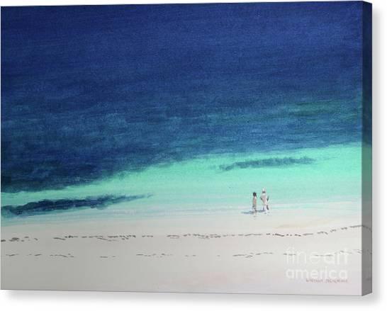 Kenyan Canvas Print - Kilifi Beach by Lincoln Seligman