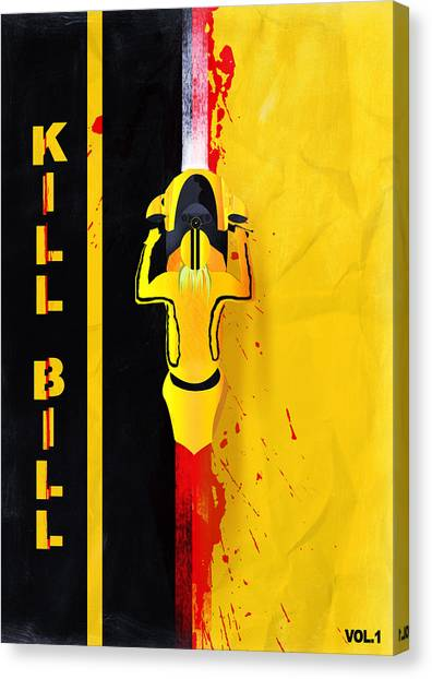 Kill Bill Minimalistic Alternative Movie Poster Canvas Print