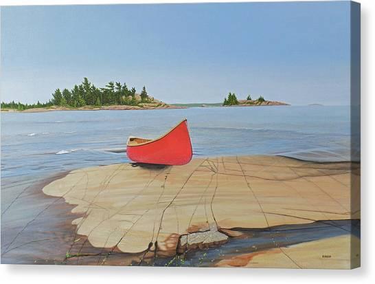 Killarney Canoe Canvas Print
