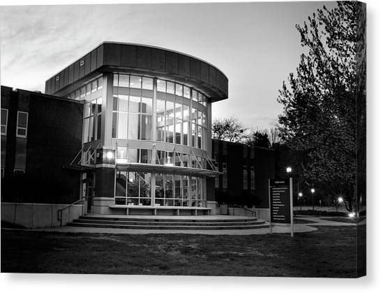 Killian Annex At Night In Black And White Canvas Print