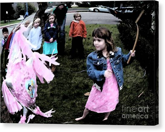 Killing The Pinata Canvas Print by JoAnn SkyWatcher