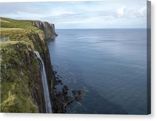 Kilt Rock Waterfall Isle Of Skye, Uk Canvas Print