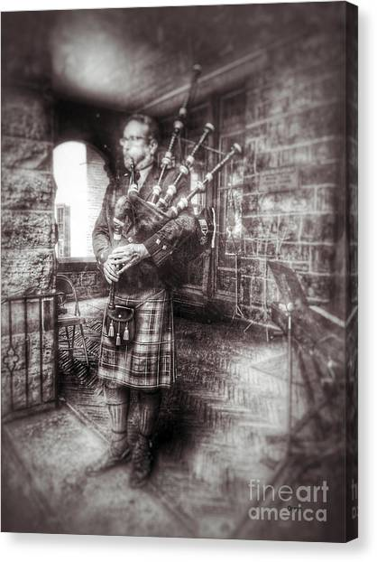Bagpipes Canvas Print - Kilts Piper   by Steven Digman
