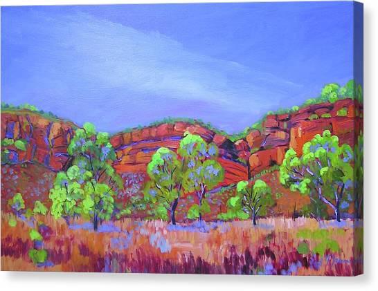 Canvas Print featuring the painting Kimberley Escarpment by Virginia McGowan