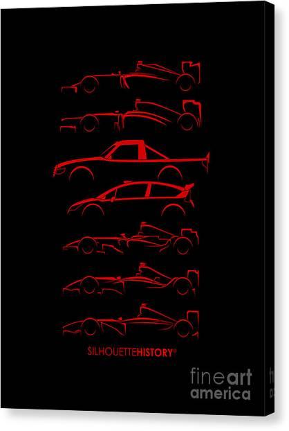 Formula 1 Canvas Print - Kimi Resume Silhouettehistory by Gabor Vida