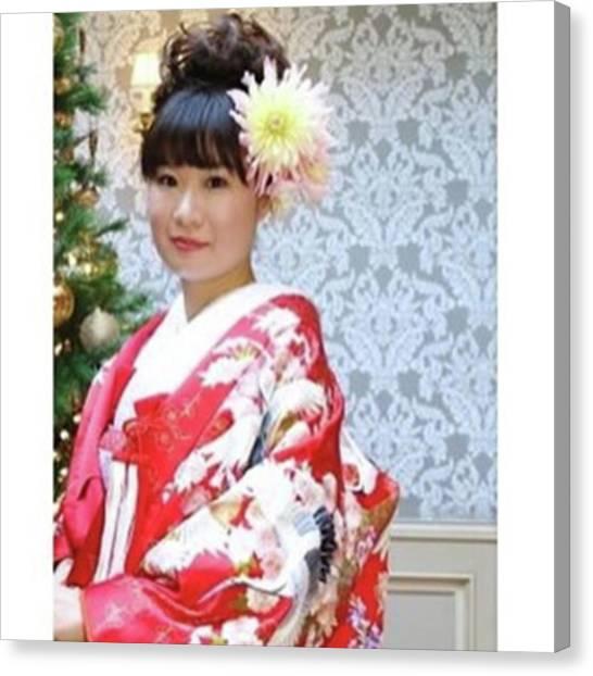 Samurai Canvas Print - #kimono #traditional #japan #japanese by Y K