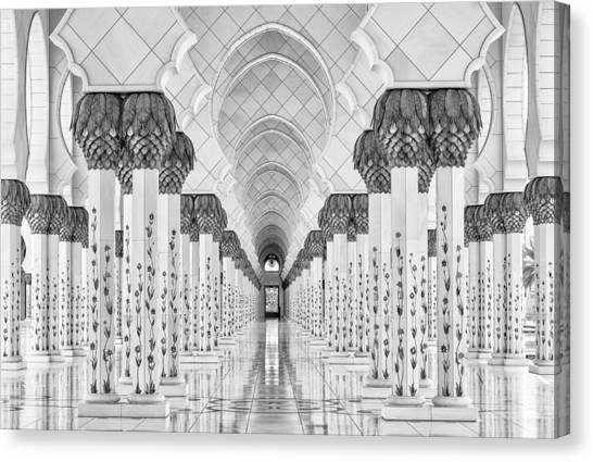 Temples Canvas Print - Kind Of Symmetry by Stefan Schilbe