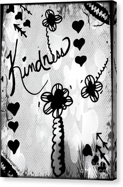 Canvas Print featuring the drawing Kindness by Rachel Maynard