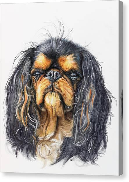 Canvas Print - King Charles Spaniel by Barbara Keith
