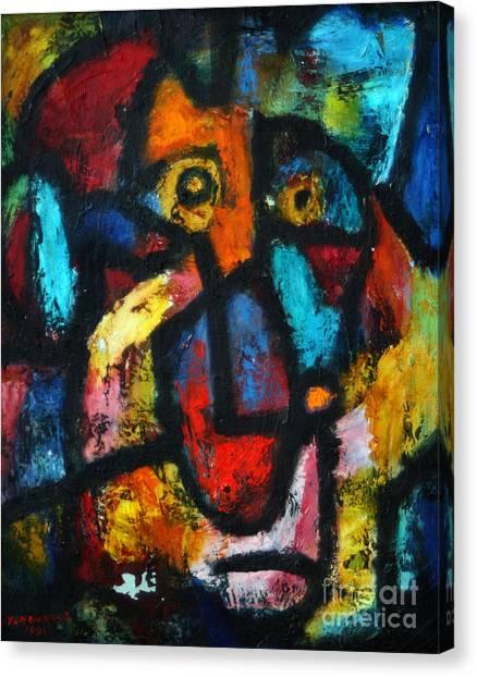 King Clown Canvas Print
