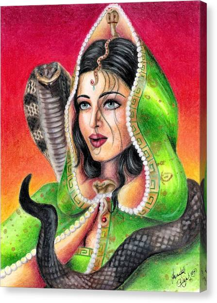 King Cobra Canvas Print by Scarlett Royal