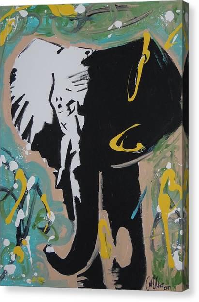 King Elephant Canvas Print
