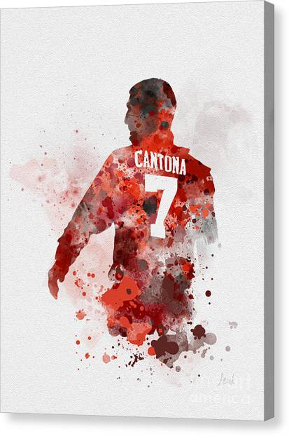 Manchester United Canvas Print - King Eric by Rebecca Jenkins