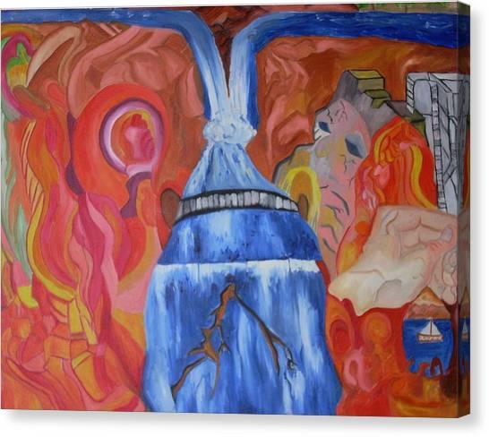 King Falls Canvas Print by Joseph  Arico