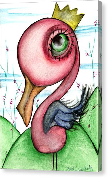 Swans Canvas Print - King For A Day by  Abril Andrade Griffith