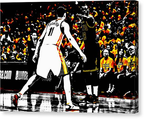 Kyrie Irving Canvas Print - King James Directing Traffic by Brian Reaves