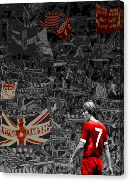 Liverpool Fc Canvas Print - King Kenny At The Kop by Arthouse Liverpool