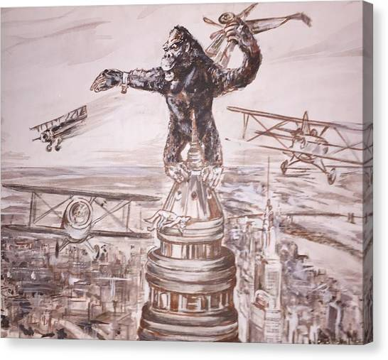 King Kong - Atop The Empire State Building Canvas Print