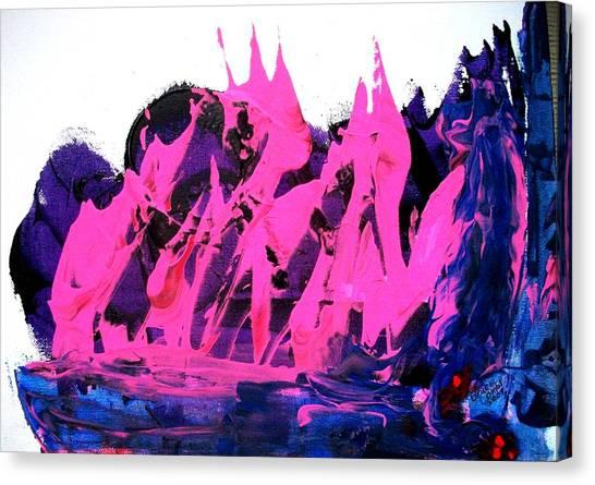 King Kong Attacks Phantom Pink Sail Boat Canvas Print by Bruce Combs - REACH BEYOND