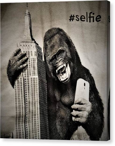 King Kong Selfie Canvas Print
