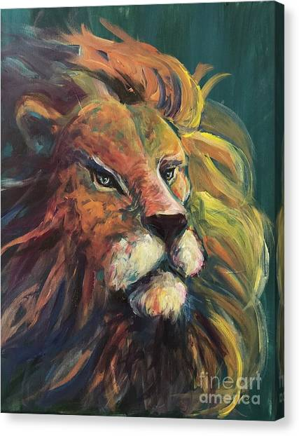 Canvas Print featuring the painting Aslan by Lisa DuBois