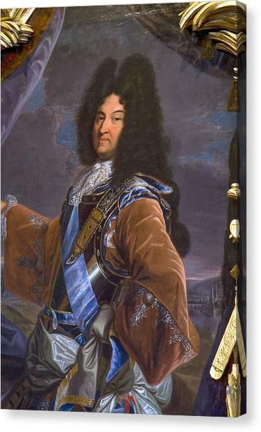 Chenonceau Castle Canvas Print - King Louis 14 Portrait by Jean-luc Bohin