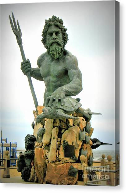 King Neptune Statue Canvas Print