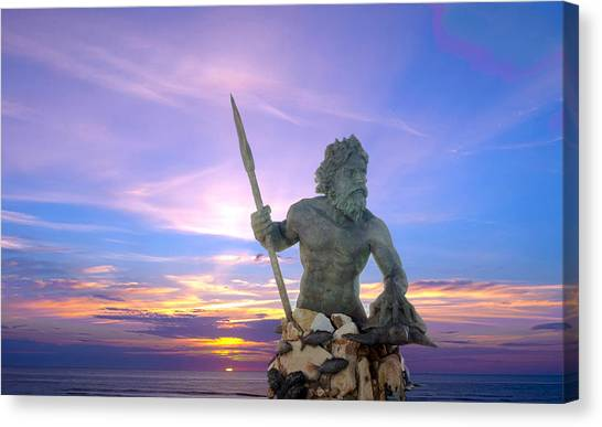 King Neptune's Sunrise Canvas Print