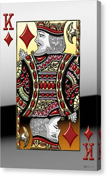 King Of Diamonds   Canvas Print