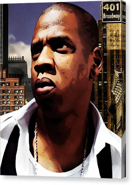 Jay Z Canvas Print - King Of New York by The DigArtisT