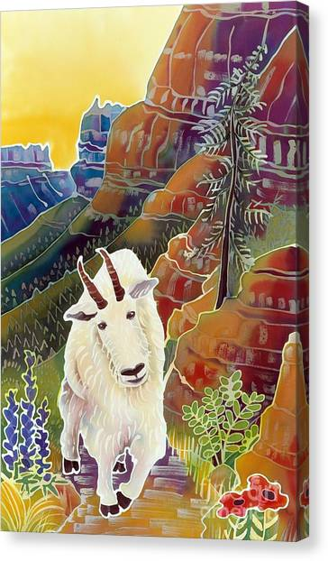 Mountain Sunrises Canvas Print - King Of The High Peaks by Harriet Peck Taylor