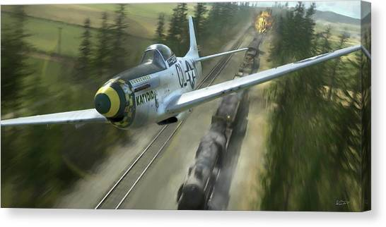 Aircraft Canvas Print - King Of The Strafers - Painterly by Robert Perry